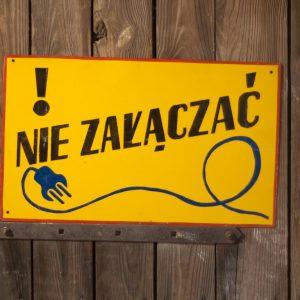 tablica ostrzegawcza Loftdizajn