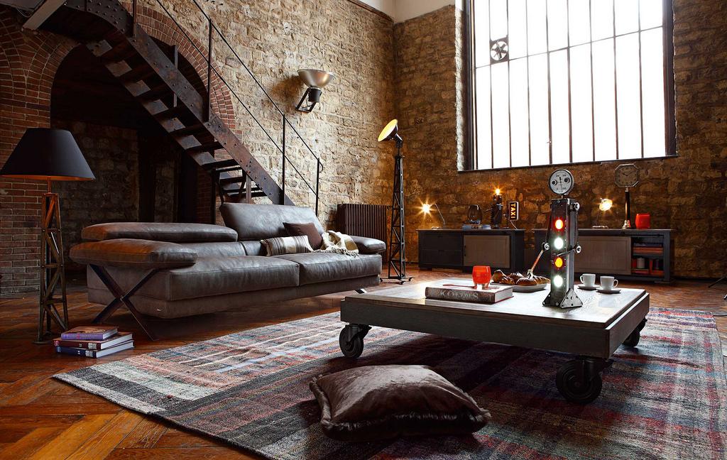 przykład wykorzystania dodatków vintage oraz loft w wystroju wnętrz