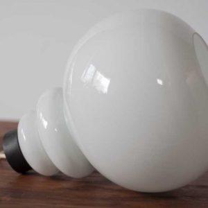 Lampa, szklany klosz, lata 70