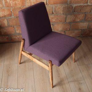 Fotel typ 300-227, Zamojskie Fabryki Mebli, fiolet, pudrowy