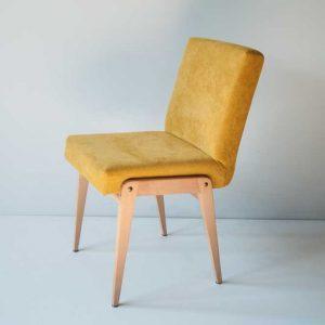 Krzesło Aga, Chierowski, tapicerka k. żółty