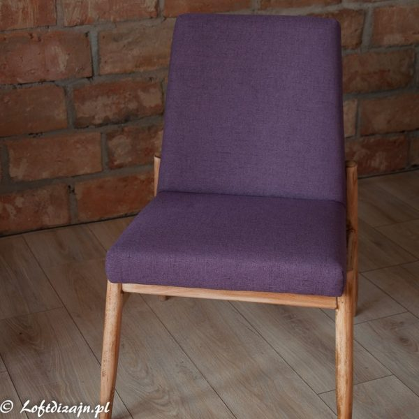 Fioletowy Fotel PRL typ 300-227,