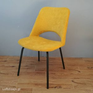 Krzesło Meblomet musztardowe nogi czarne
