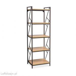 Regał loftowy metal drewno