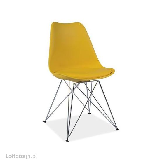 krzesło tim żółte