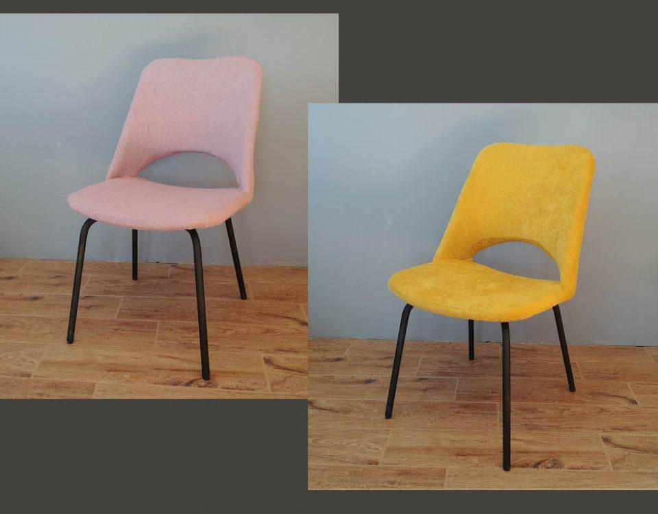 metalowe krzesła z prl