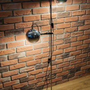 lampa podłogowa chromowana