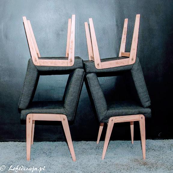 Aga to krzesło zaprojektowane przez Józefa Chierowskiego
