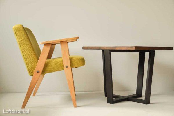 366 fotel i stolik industrialny