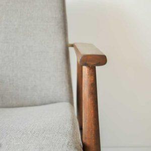 Fotel lata 70 Lisek po renowacji