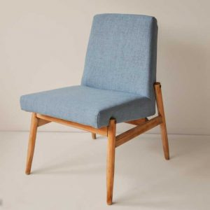 niebieski fotel celia PRL