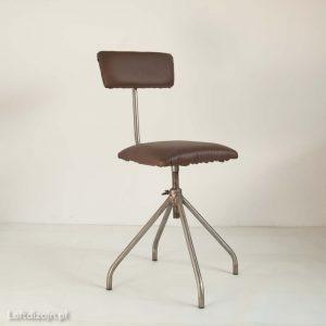 Krzesło warsztatowe PRL