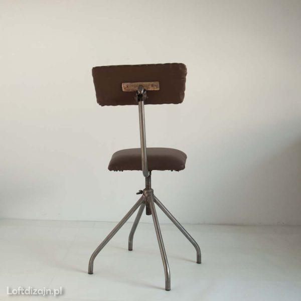 Krzesło industrialne brązowe
