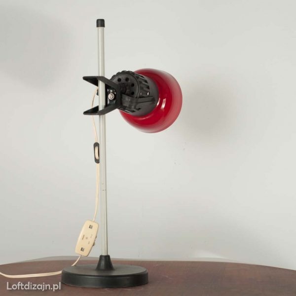 Lampka biurkowa po renowacji PRL