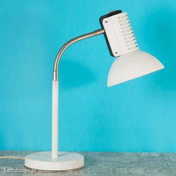 Lampa biurkowa ART, biała, proj. Pniewski, Rutkiewicz, lata 80